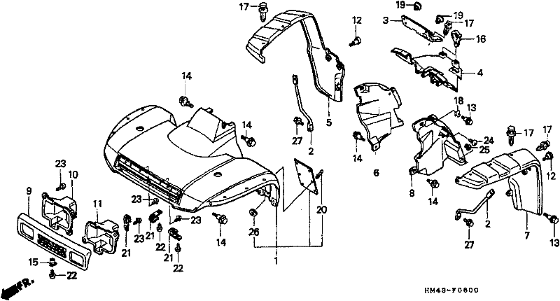 trx 250 fourtrax rear axle diagram