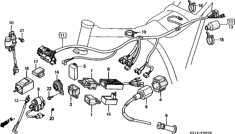 1986 honda xr250r engine diagram